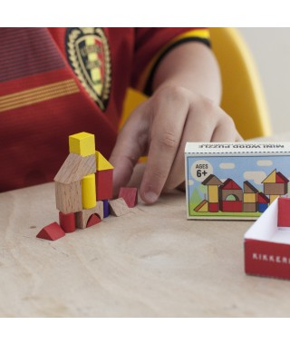 "Kikkerland ""Mini wood house puzzle"" - puzzle legno"