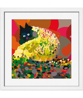"Miho "" Autumn Leaves"" - Quadro con cornice e vetro"
