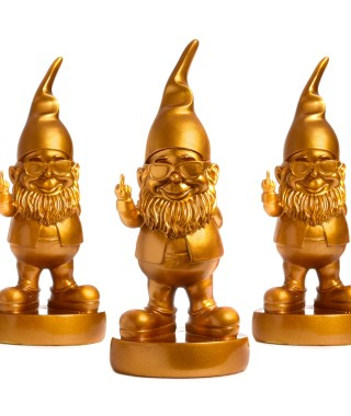 "Pusher ""The Golden Gnome Limited Edition"" - Gnomo edizione limitata in oro"