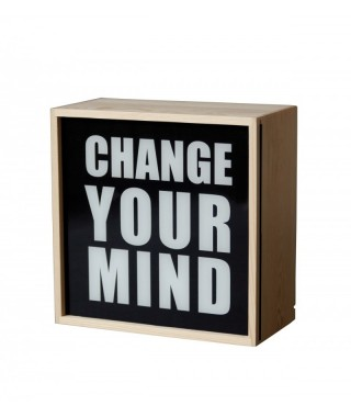 "Seletti ""Lighthink Box"" Change Your Mind - Lampada Quadrata"