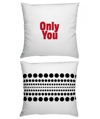 "Creativando ""Only You"" - Cuscino Quadrato in Cotone"