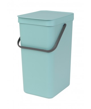 "Brabantia ""Sort & Go"" - pattumiera per differenziata 16 lt  Mint"