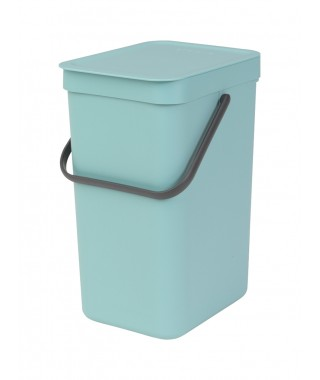 "Brabantia ""Sort & Go"" - pattumiera per differenziata 12 lt - Mint"