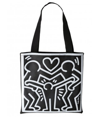 "Creativando ""Tote-bag"" - borsa Happy family black"