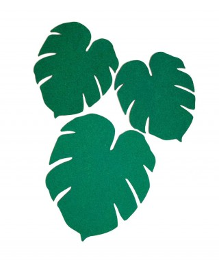 "Kikkerland ""Monstera Leaf Corkboards"" - Set 3 Bacheche In Sughero"