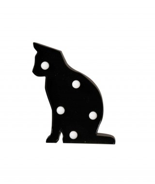 "Pusher ""Mini Metal Lights"" - Cat Simbolo Luminoso Gatto"