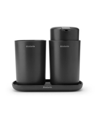 "Brabantia ""Bathroom"" - Set 3 Accessori da Bagno - Dark Grey 