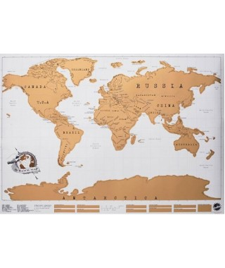 "Luckies ""Scratch map"" - Mappa del mondo da grattare"