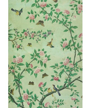 """IXXI """"V & A Museum"""" - Panel of Chinese painted wallpaper"""