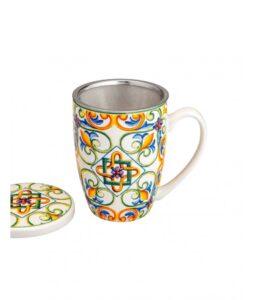 """MEDICEA"""" - Mug con infusore in acciaio inox"""